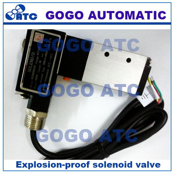 4 way solenoid valve operation, Explosion-proof solenoid valve 110V 220V 12v 24v 4V210-08 4-ports electric solenoid valve