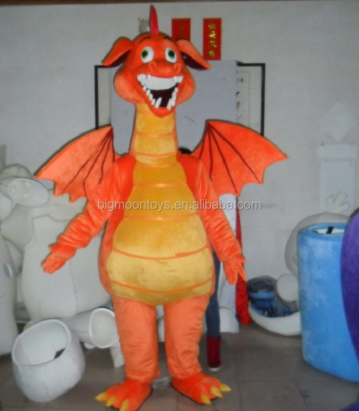 2016 hot customized new design green costume for adult dragon