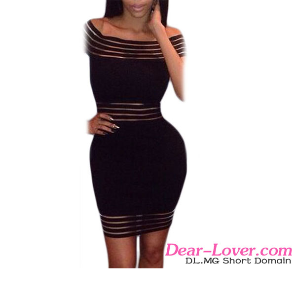 Hot sexy Women without clothes Black Disappearing bodycon dress 2015 sexy