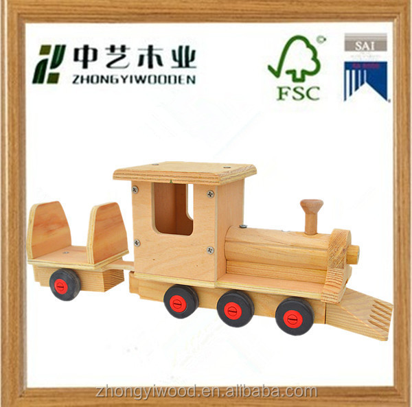 2015 hot sale kids outdoor environmental natural handmade china wholesale new outdoor christmas decorative wooden train