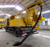 8000L Dongfeng 6x2 Sewage Jetting Vacuum Cleaner Trucks