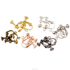 High Quality Raw Brass French Clip On Dangle Earring Findings Supplier