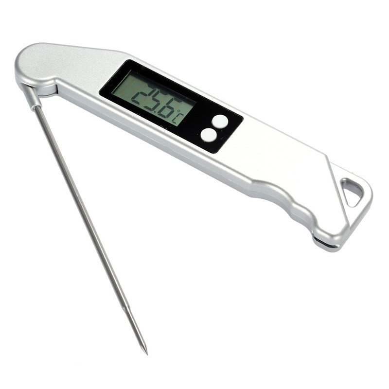 Digital Probe Folding Meat Thermometer Kitchen Cooking BBQ Food Thermometer Cooking Stainless Steel Foldable Probe Meat
