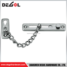Top quality stainless steel door chain guard with lock