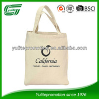 2016 promotional wholesale organic cotton tote bags