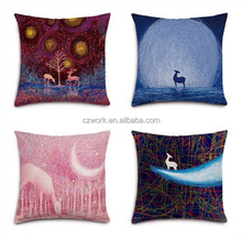 Digital printed custom designs sofa seat cushion covers and decorative throw pillow case