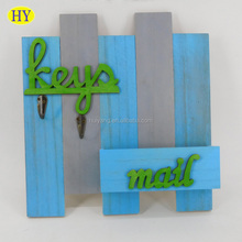 Custom Fence Shape Wall Mounting Wooden Key Holder Wholesale