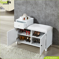 Goodlife wholesale mirror shoe cabinet stool cabinet made in China