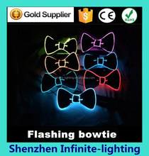 sequins decoration LED flashing bow tie bowknot wedding/party/stage