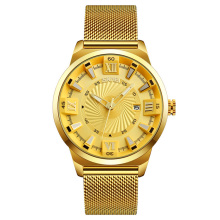 2018 luxury design golden wristwatches SKMEI 9166 mens analog quartz watch vogue relojes hombre