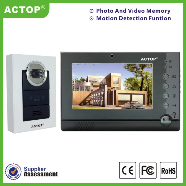 Alarm Function 7 Inch Indoor Screen 2 Wire Video Intercom System