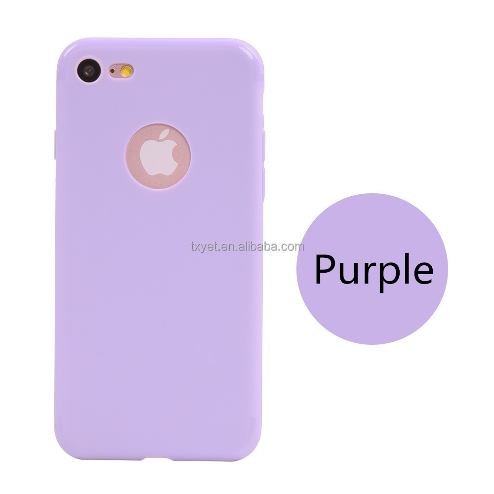 simple fashion pure frosted phone case for iphone 6 plus clear slim tpu case cover