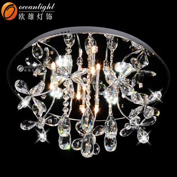 Crystal drop ceiling light florwer shape modern hanging lamp crystal drop ceiling light florwer shape modern hanging lamp om66003 mozeypictures Gallery