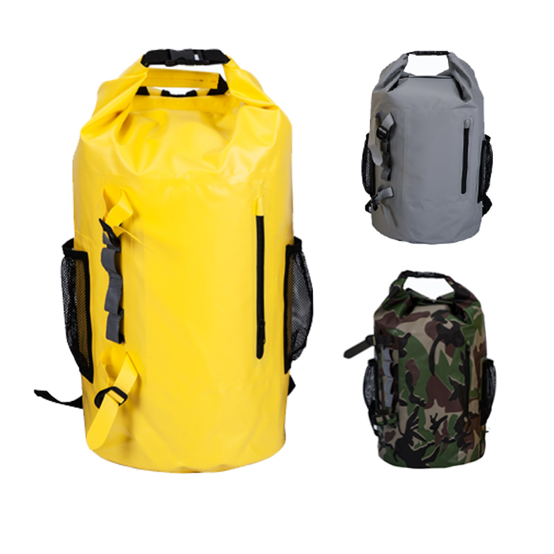 Custom logo printing roll top backpack for waterproof backpack dry bags