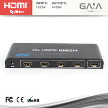 High Quality HDMI Splitter to coaxial 1x4 1 in 4 out Converter adapter Full 1080P 3D HDMI splitter