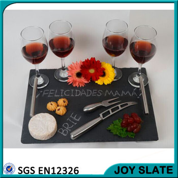 wholesale rectangle black slate cheese board