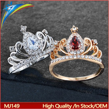 Wholesale Gold Cubic Zirconia King Crown Rings For Women Jewelry