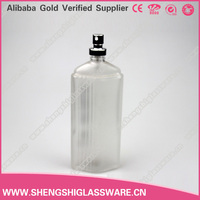 100ml logo perfume bottle/empty car glass perfume bottle