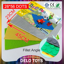 56*28 dots 8 colors plastic brick toys connecting blocks building bricks baseplate/base plate DE0083193