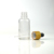 Hot sale 10ml 20ml 30ml 50ml 100ml green blue clear amber essential oil using glass dropper bottles with bamboo lid