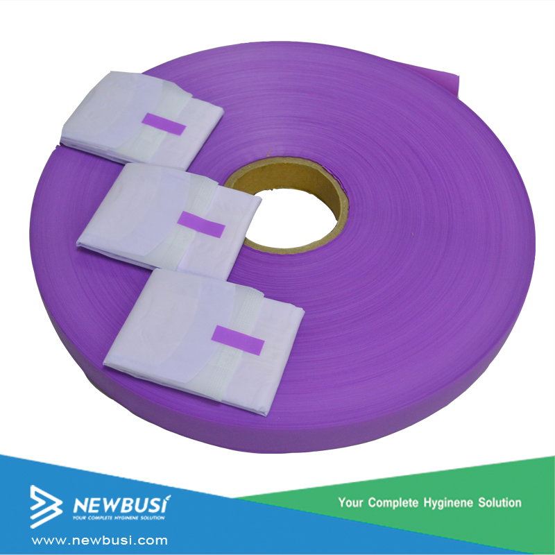 Sanitary napkin raw material easy open tape