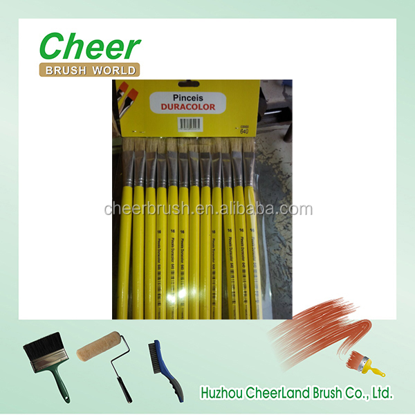 chinese pincel artist paint brush set with 100 pure bristles for oil painting