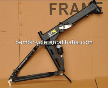 "26"" Alloy Folding Bike Frame With Suspension"