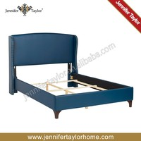 China wholesale comfortable modern bedroom synthetic leather double bed,custom bed design furniture