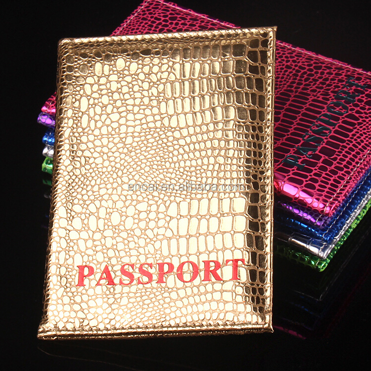 Encai Factory Newest Travel Bright PU Passport Cover Wholesale Passport Case Stocked Colourful Passport Holder