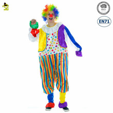 New design Halloween carnival clown jumpsuit role play costumes