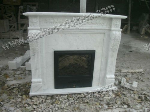 nice white marble electric fireplace