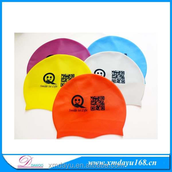 Professional swimming hat manufacturer Adult custom printing silicone swim cap