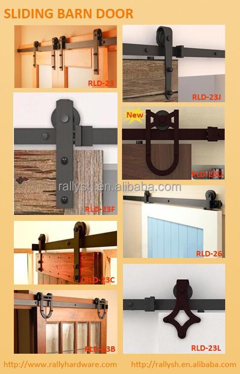 Aluminum Box Rail Top Hanging Hardware Set For Barn Sliding Doors
