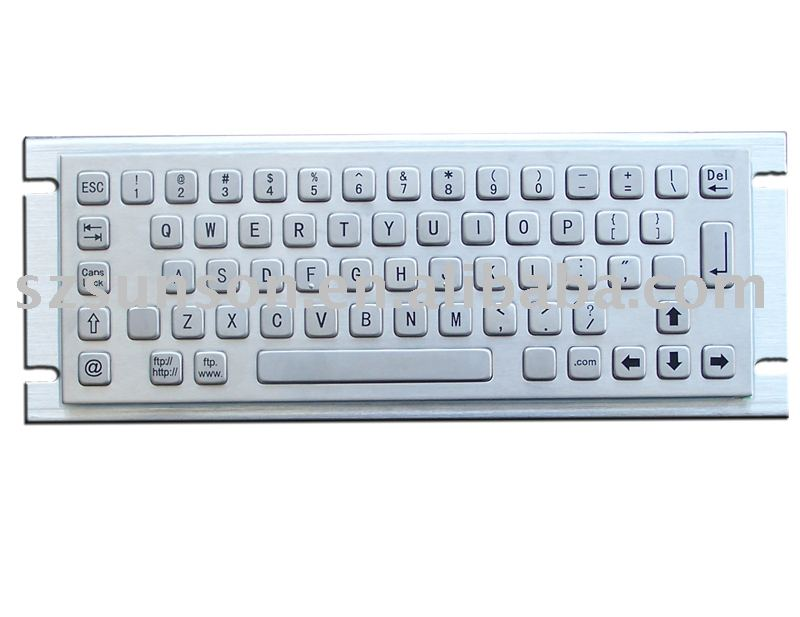 (S-PC-2R) Kiosk Keyboard/Metal keyboard/industrial Metal