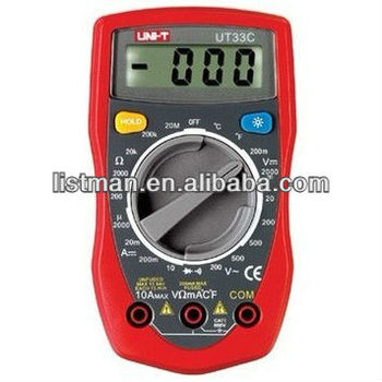UNI-T UT-33C Series handheld Palm-Size Digital Multimeters Digital LCD Palm Multimeter-Ohm wholesale high quality
