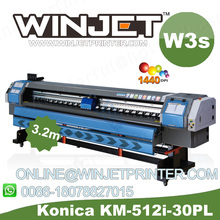 K jet 10ft 512/1024 konica flex printing machine digital printing machine