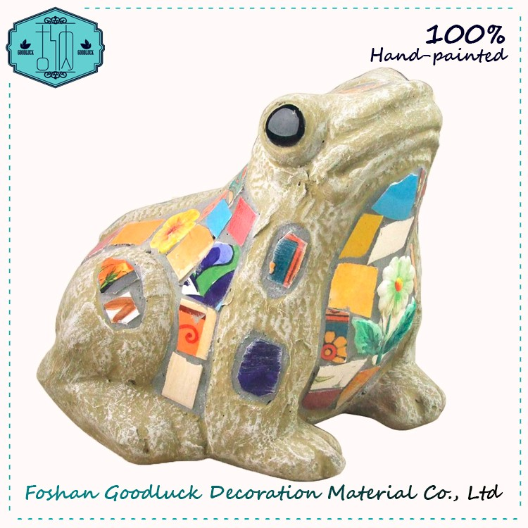Hand Made Multicolor Mosaic Frog Japanese Garden Figurine Home Decor