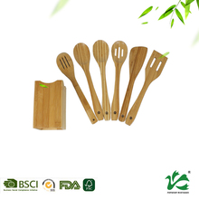High quality BSCI manufacturer bamboo utensil sets for kitchenware