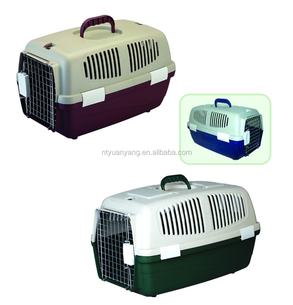 hot sale plastic soft dog flight airline cages three colors manufacturer