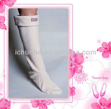 white pure colour adult &kids new polar fleece rain boot leg warmer factory