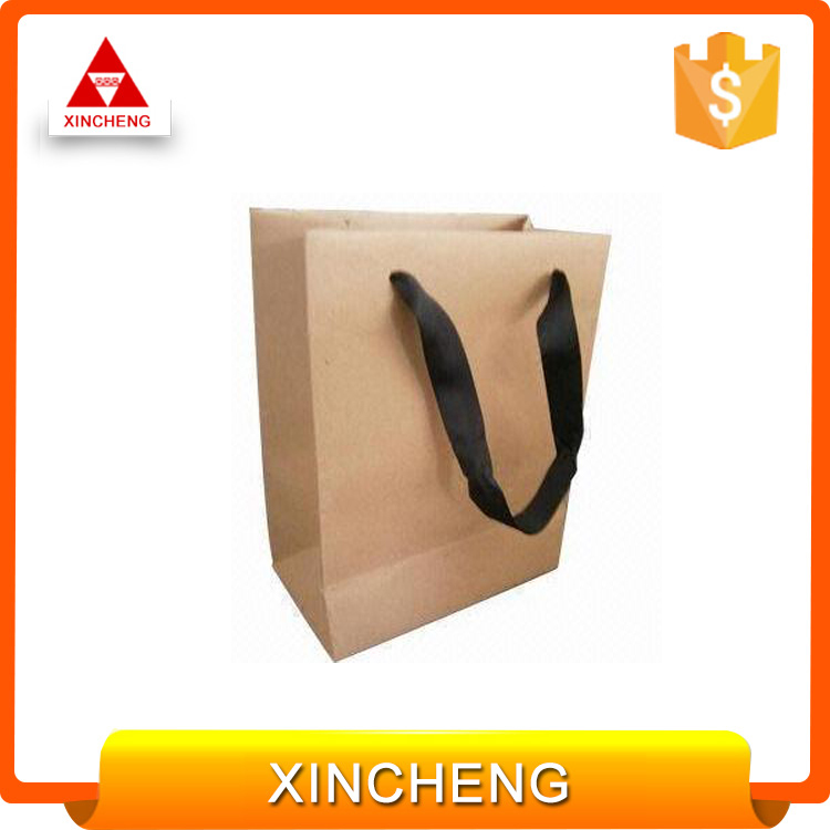 Custom romantics printing brown packaging paper bag for marketing