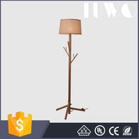 High quality manchurian ash wood hanger American bedroom design lights decorative antique wooden floor lamp