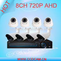 dome and waterproof 8ch 1.0MP 1.0mp hd dvr kit for cctv surveillance system