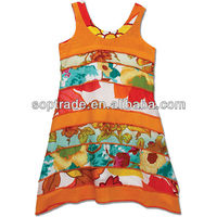 Fashion kids floral frock princess dress girl dresses colorful girls clothes