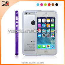 Coolzone colorful bumper for iphone5S TPU+PC 2in1 case for iphone