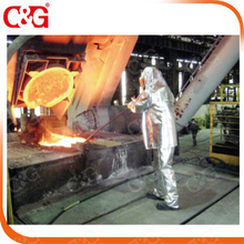 Aluminized Viscose firefighting suit for workers