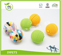 cat eva balls with different color,epispastic ball cat toy,EVA pet toys