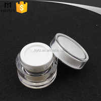 50g round acrylic cosmetic jars double wall plastic cream container