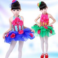 New design little girl dance costumes Child performance wear costume princess dress tulle ballet dance stage costume