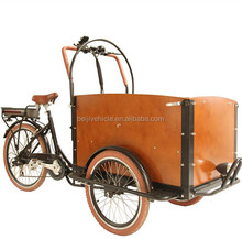 CE Holland bakfiets family 3 wheel battery operated pedicab rickshaw bike cargo tricycle